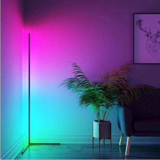Угловой LED торшер Ledox Design с пультом, регулируемой яркостью 20 Вт Черный