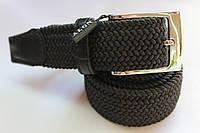 Плетеный ремень-резинка черный