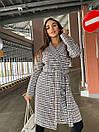 """Стильное длинное пальто в клетку на осень """"Olа"""", модное молодежное пальто с поясом модных расцветок, фото 5"""