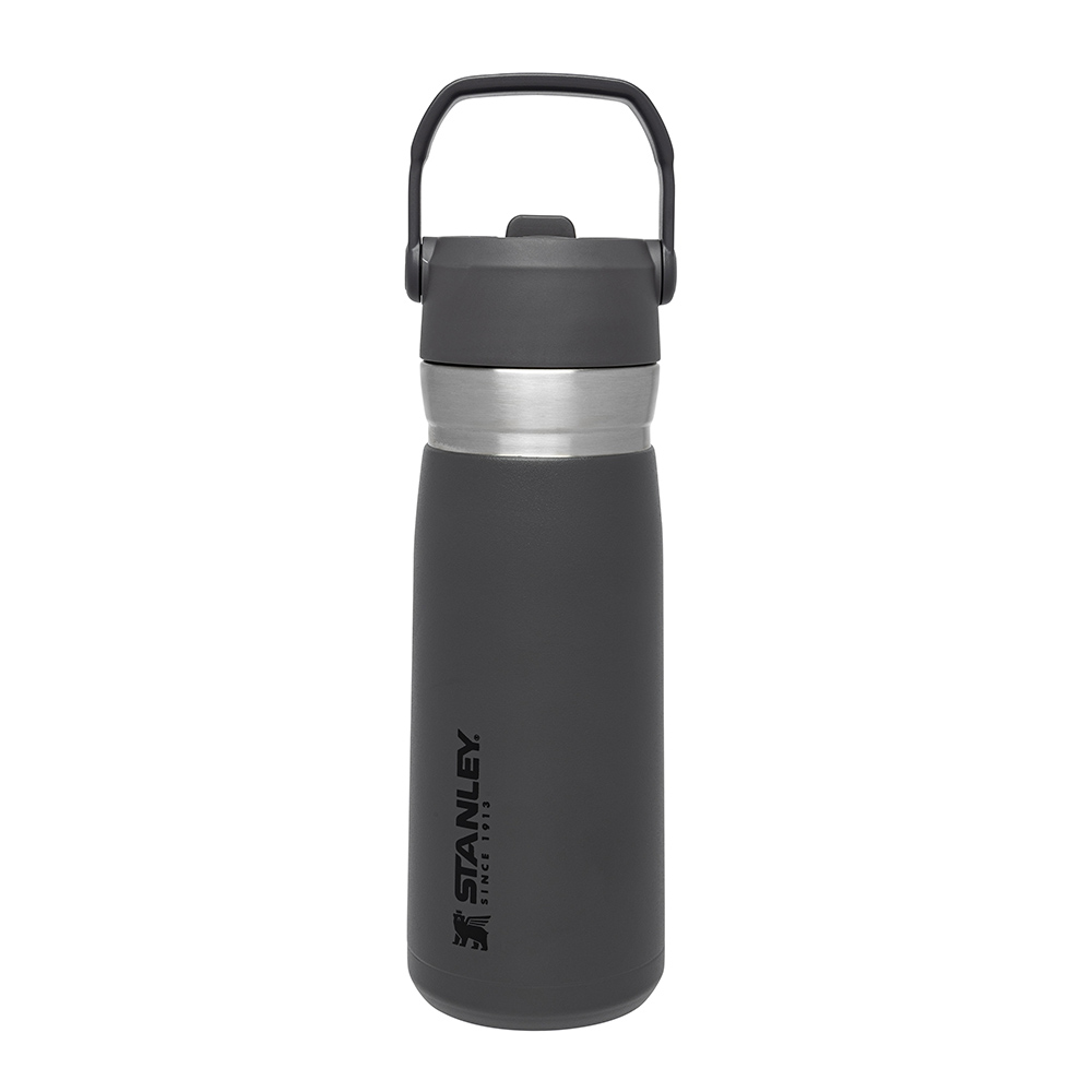Термобутылка Stanley Go flip straw Charcoal 0.65 л (термокружка, термочашка, термостакан, термопляшка)