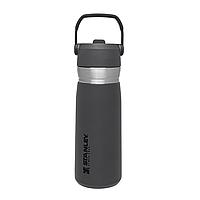 Термобутылка Stanley Go flip straw Charcoal 0.65 л (термокружка, термочашка, термостакан, термопляшка), фото 1