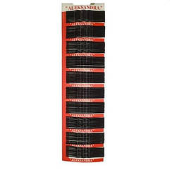 Невидимки для волос металлические  чёрные ALEKSANDRA, 100 шт ALX - 716