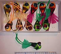 Птицы из перьев (13см, 12 шт) арт. 07040