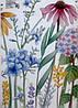 """Вінілові наклейки в салон краси на стіну, вікна, шафи, вітрини """"польові квіти"""" 56*99см (лист 60*90см), фото 4"""
