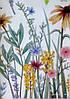 """Вінілові наклейки в салон краси на стіну, вікна, шафи, вітрини """"польові квіти"""" 56*99см (лист 60*90см), фото 3"""