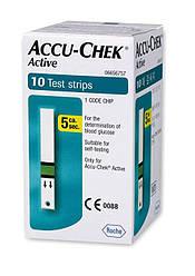 Тест-смужки Акку-Чек Актив 10 штук (Accu-Chek Active) МИНУЛИЙ ТЕРМІН ПРИДАТНОСТІ 2020-2021 РІК