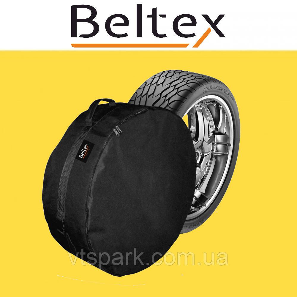Чехол для запасного колеса Beltex M (R14-R15), чехол на запаску, чехол для докатки Белтекс, чехол на колесо