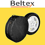 Чехол для запасного колеса Beltex M (R14-R15), чехол на запаску, чехол для докатки Белтекс, чехол на колесо, фото 2