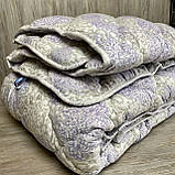 Одеяло на холлофайбере ОДА двуспального размера 175х210 Стеганное зимнее одеяло высокого качества, фото 3