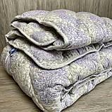 Одеяло на холлофайбере ОДА двуспального размера 175х210 Стеганное зимнее одеяло высокого качества, фото 5