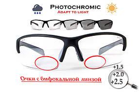 Біфокальні фотохромні захисні окуляри
