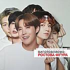 Ростова фігура Сюга (Мин Юнги) група BTS Bangtan Boys. Ростова фігура з будь-яким зображенням під замовлення, фото 4