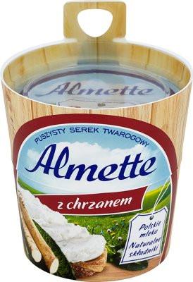 Творожный сливочный сыр Almette z Chrzanem Hochland (сыр Альметте с хреном), 150 г.