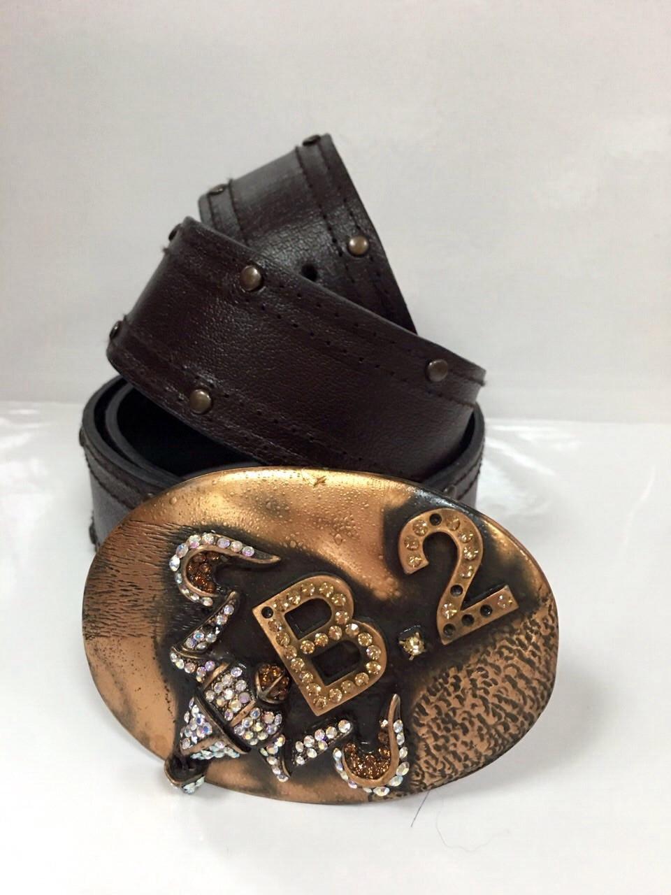 Ремень пояс кожаный женский BALIZZA  шоколадк