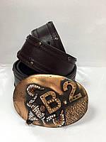 Ремень кожаный женский BALIZZA  шоколадк, фото 1