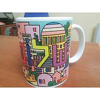 """Чашка с цветной росписью """"Шалом"""""""