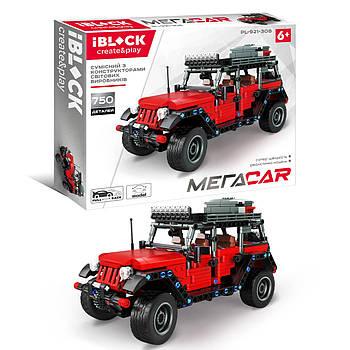 Конструктор джип автомобиль Jeep внедорожник IBLOCK инерционный механизм МЕГАCAR