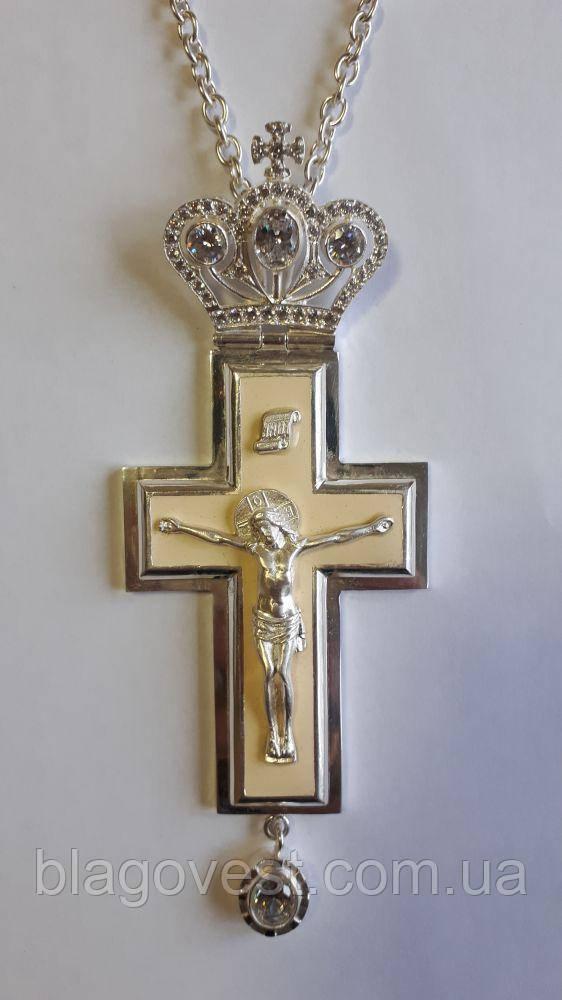 Хрест кабінетний з емаллю