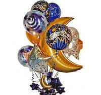 Идеи оригинального оформления: фольгированные шары в форме цифр