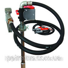 Насос для перекачування і заправки (роздавачів) дизельного пального з бочки або баку PTP 12В, 40 л/хв