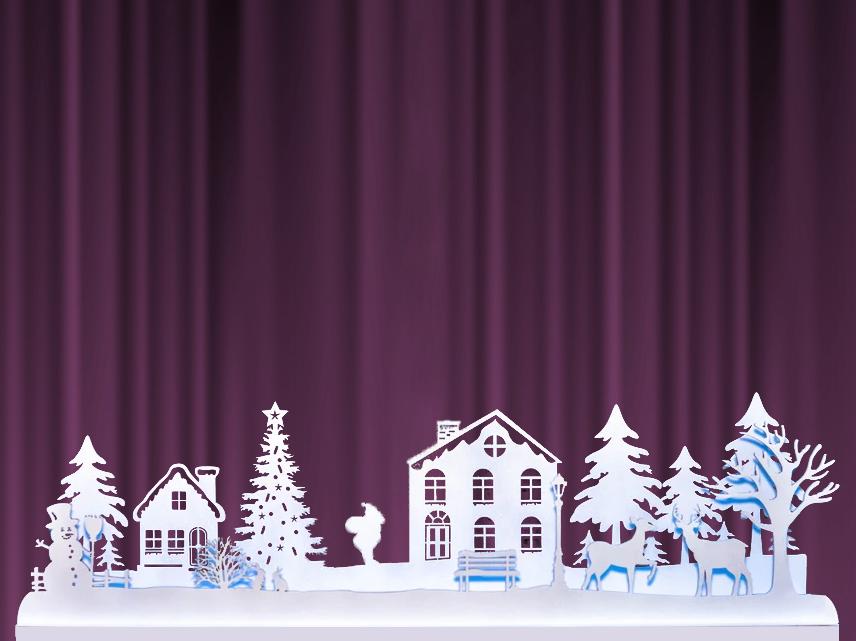 """Різдвяні прикраси для декору з фанери — Інсталяція """"Новорічна село"""""""