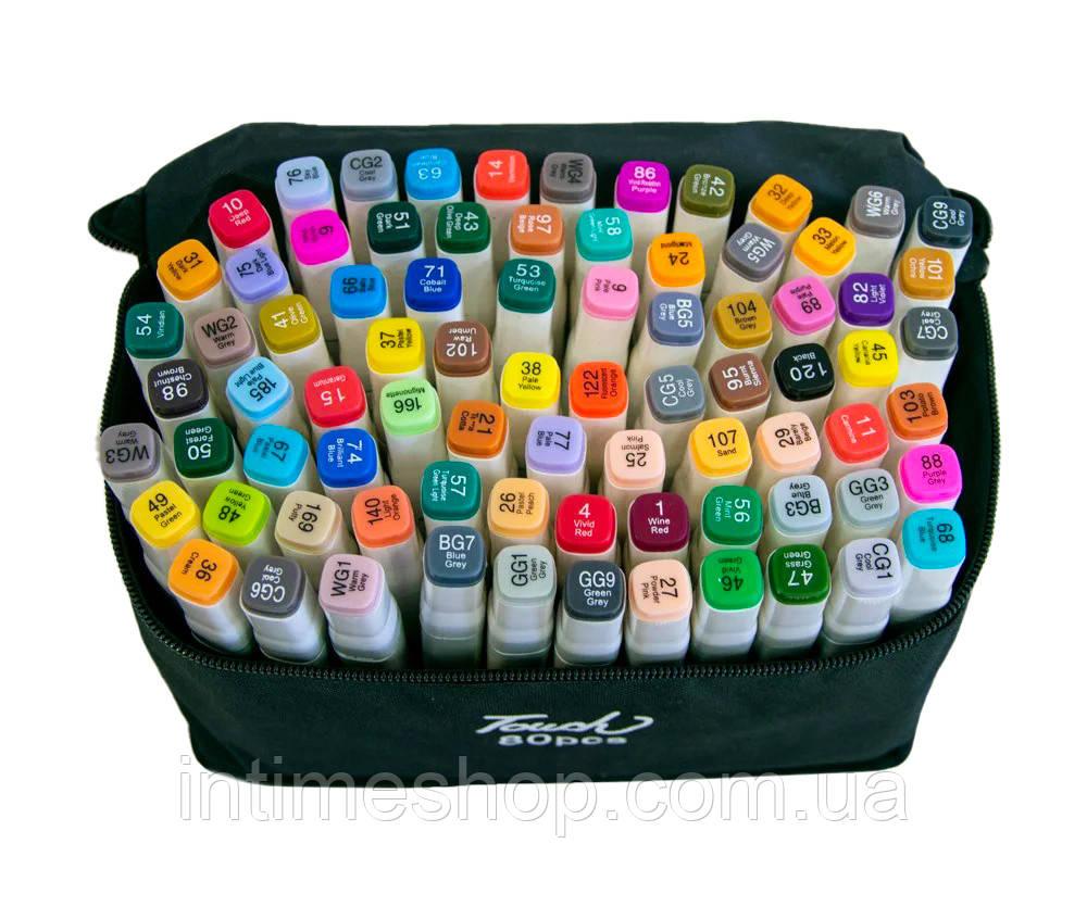 Скетч фломастеры по номерам Touch  80 шт./уп белый корпус, набор маркеров для художников (TI)