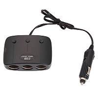 Разветвитель прикуривателя с 3-мя выходами + USB  AD-B04  *1318