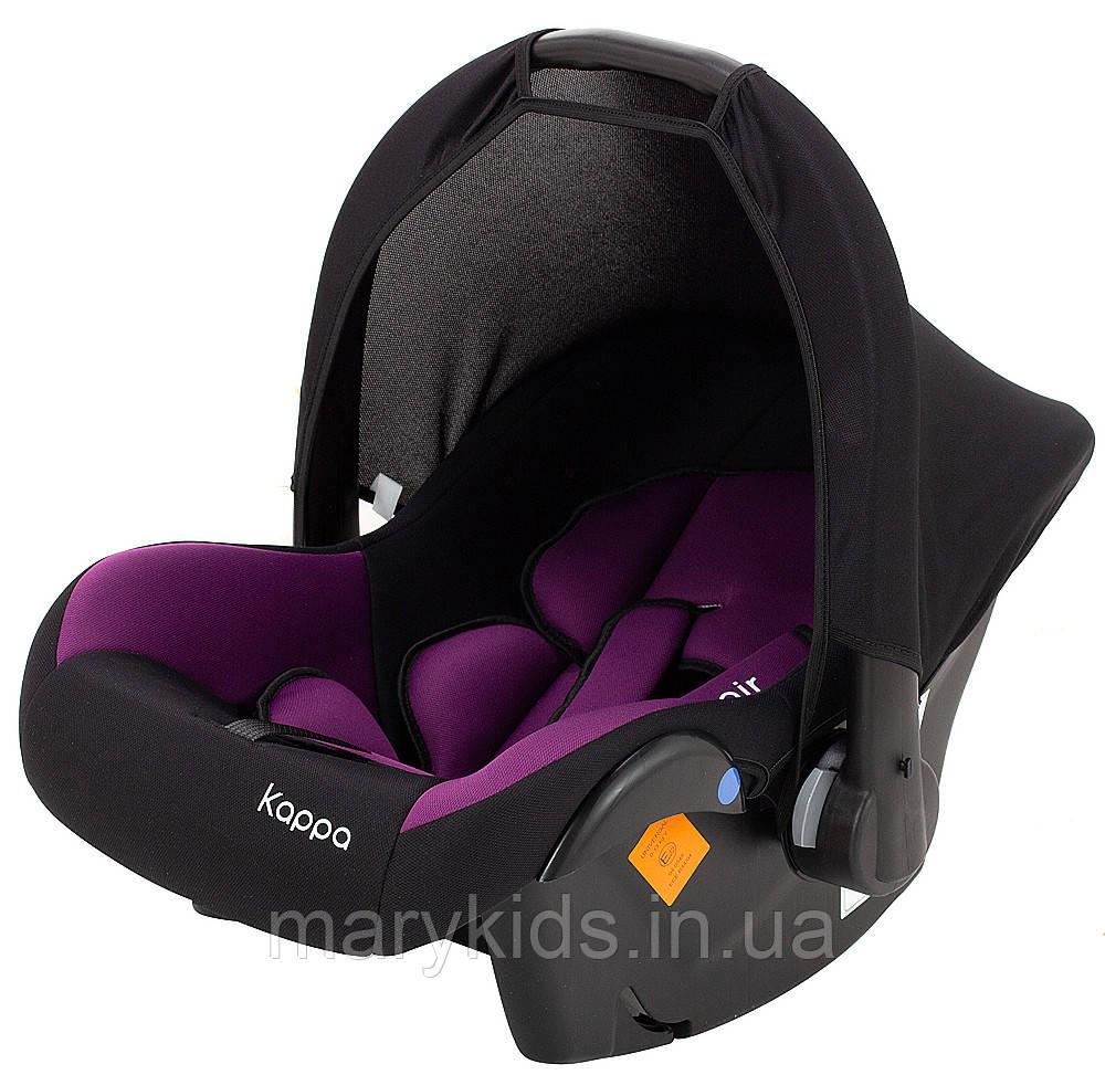 Автокресло Bair Kappa 0+ (0-13 кг) DK 1824 черный - фиолетовый