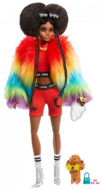 Кукла Барби Экстра №1 Афроамериканка в радужной накидке + 15 акс (Barbie Extra Doll 2020 GVR04)