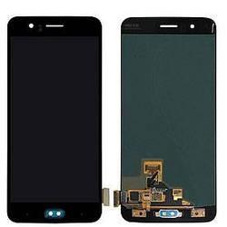 Дисплей OnePlus 5 A5000 с тачскрином черный Amoled