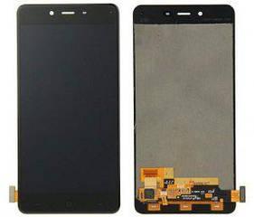 Дисплей OnePlus X с тачскрином черный Amoled