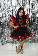 Красочный карнавальный костюм для девочки Божья коровка люкс от 3 до 8 лет
