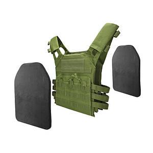 Жилет тактический AOKALI Outdoor А54 JPC Green военный армейский