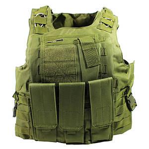 Жилет тактический AOKALI Outdoor А56 Green разгрузочный для мужчин
