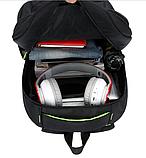 Рюкзак мужской черно-оранжевый Sports, фото 2