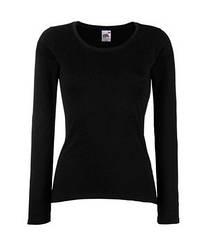 Женская футболка с длинным рукавом черная 404-36