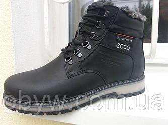 Зимові чоловічі шкіряні черевики на хутрі , повністю натуральна шкіра.
