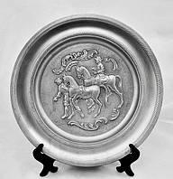 Тарелка коллекционная, олово пищевое, Германия,