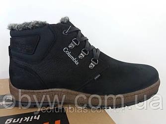 Зимові шкіряні чоловічі черевики з натуральної шкіри на овчині.