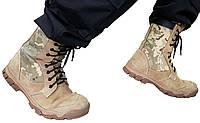 (Берцы) Ботинки Тактические Нубук + Цигейка.