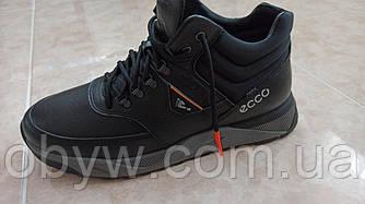 Зимові чоловічі шкіряні кросівки на хутрі , ST 4045.