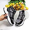 Модельні зимові сірі чорні жіночі спортивні черевики на хутрі, фото 6