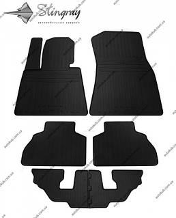 Модельні гумові килимки в салон для BMW X7 (G07) (2018-..) комплект з 6 штук (Stingray)