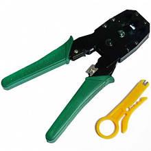 Клещи обжимные для кабеля и разьемов RJ-45, RJ-12, RJ-11
