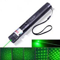 Зеленые лазерные указки Green laser 303 500 mW с ключами