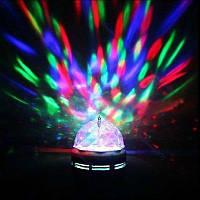 Диско лампа вращающаяся led lamp + патрон