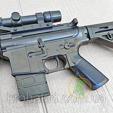Игрушечная снайперская винтовка Cyma с лазерным прицелом, фонарем, съемным прикладом и глушителем (P.1158D), фото 2