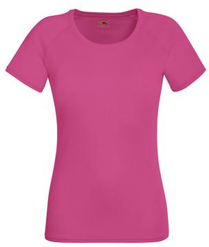 Жіноча спортивна футболка малинова 392-57
