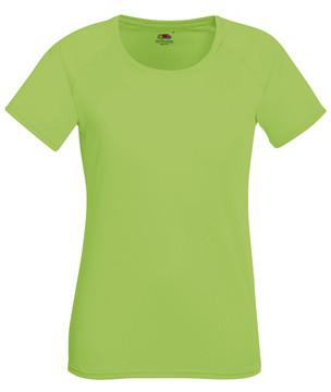 Женская спортивная футболка салатовая 392-LM