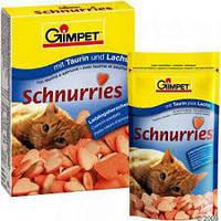 Gimpet Schnurries витамины для кошек  с таурином и лососем( 650 шт).